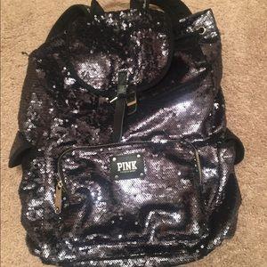 Vs pink sequin backpack